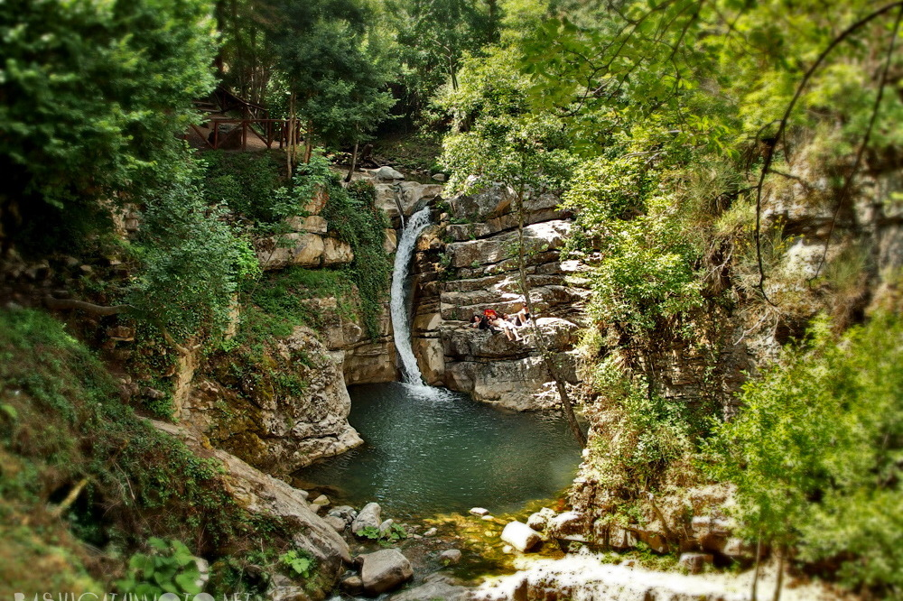 Wasserfall in San Fele, Lucania